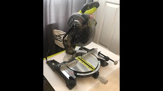 """""""NO, TECHNICAL TERMS"""" / HOW TO UNLOCK RYOBI TS1346 - 10"""" COMPOUND MITER SAW"""