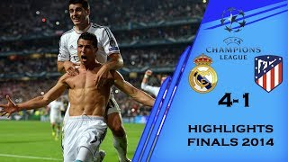 Real Madrid Vs Atletico Madrid 4-1 UEFA Champions League Finals 2014 (All Goals & Highlights) HD