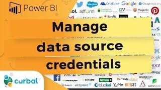 Manage data source credentials in Power BI Desktop