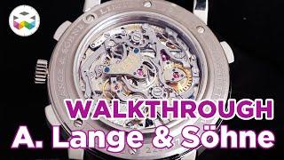 Walkthrough Famous German Watchmaker A. Lange & Söhne