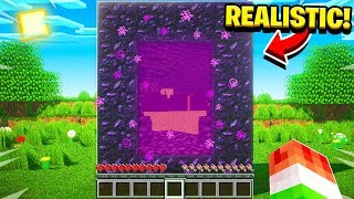 TRAVELING TO A REALISTIC PORTAL.. (ULTRA REALISTIC MINECRAFT 3)