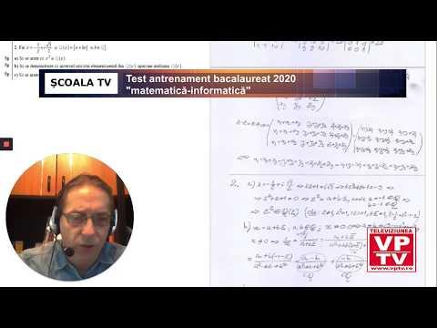 Test antrenament bacalaureat 2020 matematică – informatică