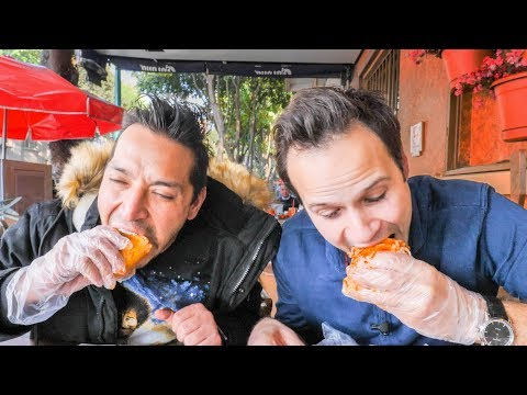 INSANE Street Food CHALLENGE in Mexico City | SCORPION Salad, BEST Mexican Sandwich + Chicken Feet!
