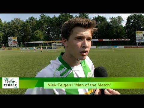 VIDEO | Niek Telgen (Asv Dronten) over de return: ,,Gelijkspel is genoeg''
