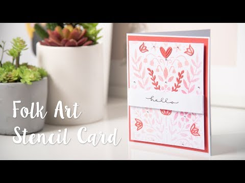 Folk Art Stencil Card - Sizzix