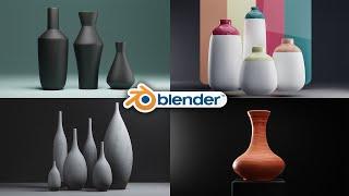 Blender - 3D Bottle Design 100% Procedural + Shading And Lighting