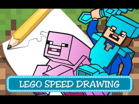 How To Draw Minecraft Steve Speedpaint