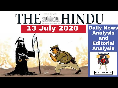 the hindu news |13 July 2020|The Hindu newspaper Analysis|Editorial Analysis|The Hindu News Analysis