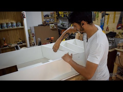 COMO HACER MUEBLE PARA BAÑO, SUPER FACIL! ( Easy bathroom cabinet ) - PROYECTO MUEBLE