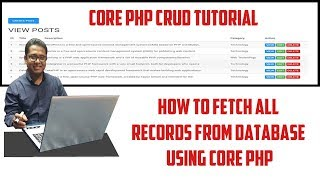 How to Fetch all Records From Database using Core PHP