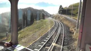 Rundblick von der Rigi und Talfahrt mit der Arth - Rigi - Bahn
