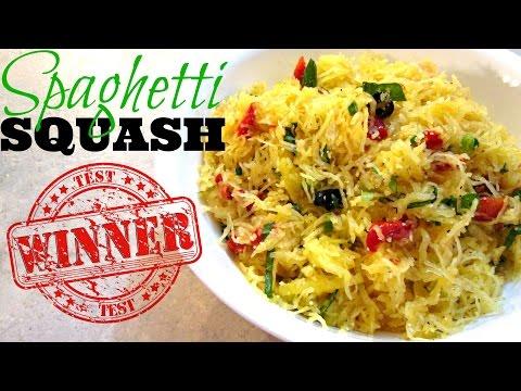 Video Spaghetti Squash Pasta - Baked Spaghetti Squash Recipe - PoorMansGourmet