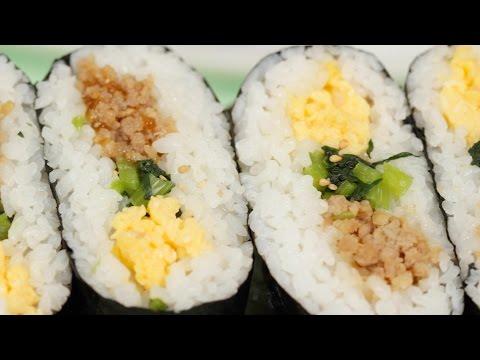 Tori Soboro Onigirazu Recipe | Cooking with Dog