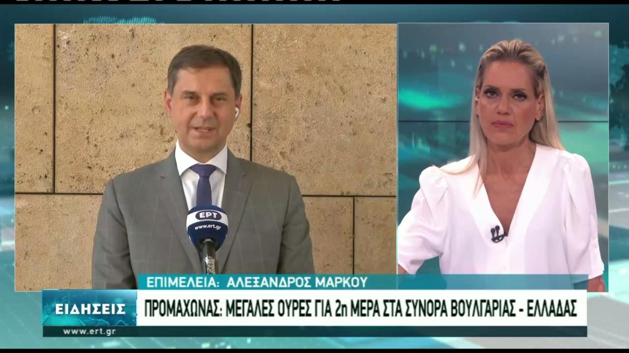 Ουρές στον Προμαχώνα από βαλκάνιους τουρίστες | 12/6/2021 | ΕΡΤ