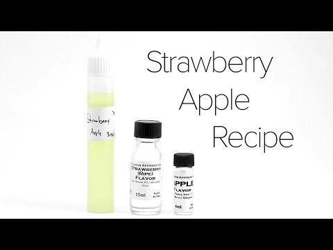 Video DIY E-Liquid Recipe : Strawberry Apple