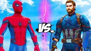 Captain America (Infinity War) vs Spider-Man (Civil War)