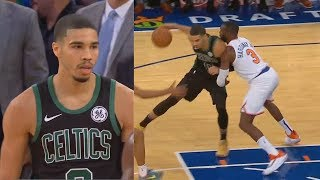 Jayson Tatum Takes Over Using Kobe Bryant Moves In Final Minutes! Celtics vs Knicks