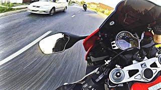 Гонки на мотоциклах - Безбашенная езда по городу