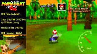 MK64 - former world record on D.K.'s Jungle Parkway - 2'12''97 (NTSC: 1'50''59)