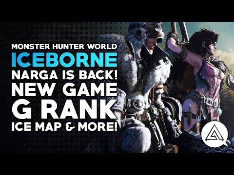 Monster Hunter World Iceborne Reaction - Nargacuga is BACK! New Game, G Rank, Ice Map & More! (видео)