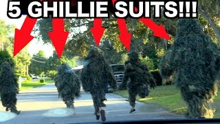 GHILLIE SUIT DING DONG DITCH PRANK 2016!!!