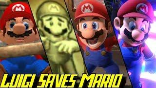 Evolution of Luigi saving Mario in Luigi's Mansion (2001-2019)