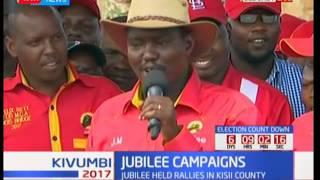 Uhuru Kenyatta takes Jubilee campaigns to Uasin Gishu county