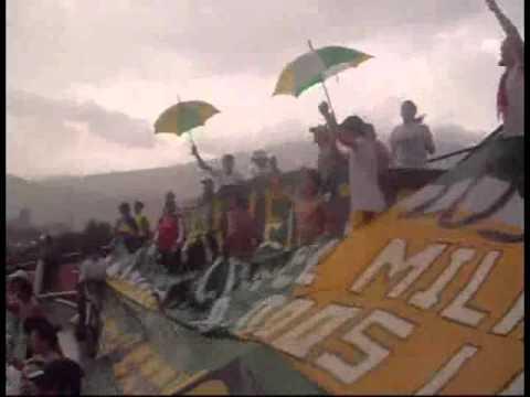 """""""Nacional 1-2 Quindío - Cuadrangular 1 Liga Postobón II 2010"""" Barra: Artillería Verde Sur • Club: Deportes Quindío"""
