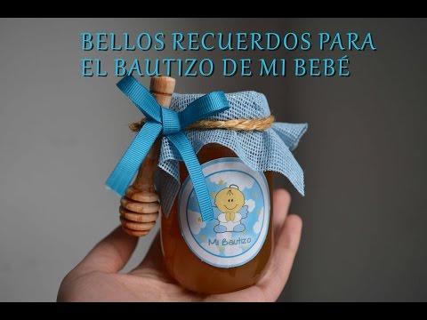 Recuerdo de miel para bautizo
