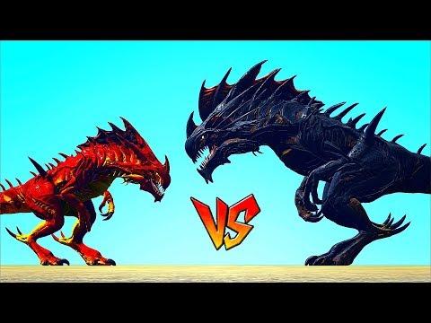 Alpha Reaper King VS Reaper Queen & Titanosaur || ARK || Cantex