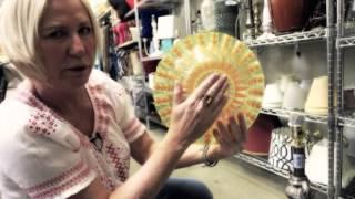 Goodbuy Girl Judy Pielach Finds Glassware & A DIY Bird Bath - Goodwill Store In Glendale Heights