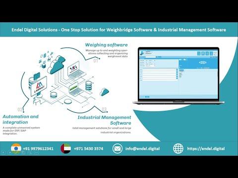 Endel Digital Solutions -One Stop Solution for Weighbridge Software & Industrial Management Software