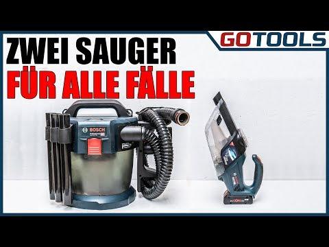 Bosch 18 Volt Akku - Staubsauger GAS 18V-10L und GAS 18V-1 vorgestellt und in Aktion!