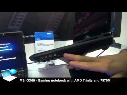 MSI GX60: gaming notebook with AMD Trinity and Radeon HD 7970M