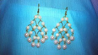 Pearl Chandelier Earrings Making / Tutorial / DIY