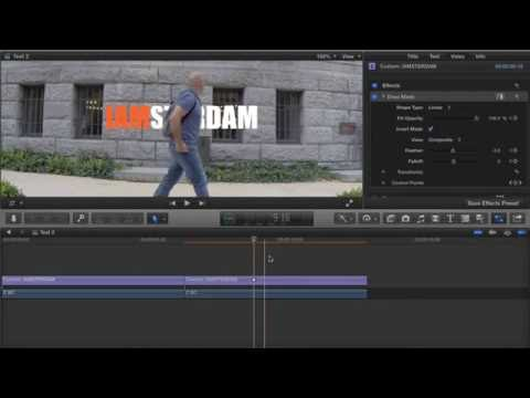 FCPX – Text behind object tutorial