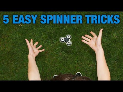 5 EASY FIDGET SPINNER TRICKS FOR BEGINNERS (TOP 5)