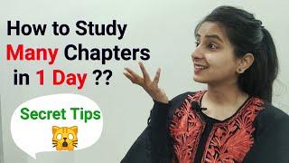 Study Entire Syllabus in 1 Day | Powerful Tricks