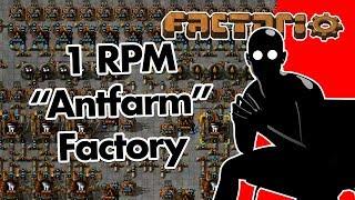 """Factorio: 1 RPM """"Antfarm"""" Factory"""