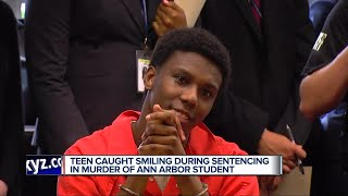 Teen caught smiling during sentencing in murder of Ann Arbor student
