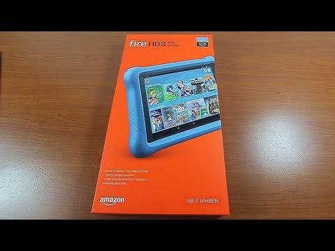 Amazon Fire HD 8 Kids Edition  2018 günstiges Tablet Unboxing kurze Vorstellung
