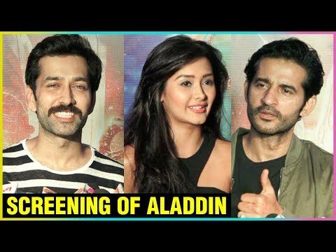 Nakuul Mehta, Hiten Tejwani, Kanchi Singh & Others At The Screening Of Aladdin
