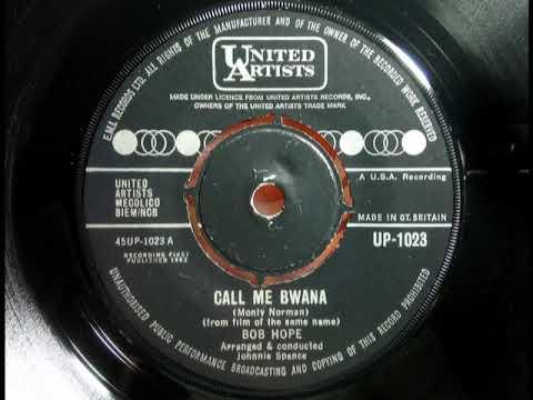 Popcorn - BOB HOPE - Call Me Bwana - UNITED ARTISTS UP 1023 UK 1963 Safari Jungle Dancer Film Theme