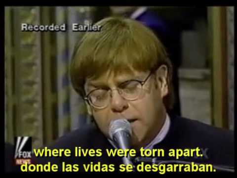 ELTON JOHN - CANDLE IN THE WIND (English - Español - Lyrics - Subs)