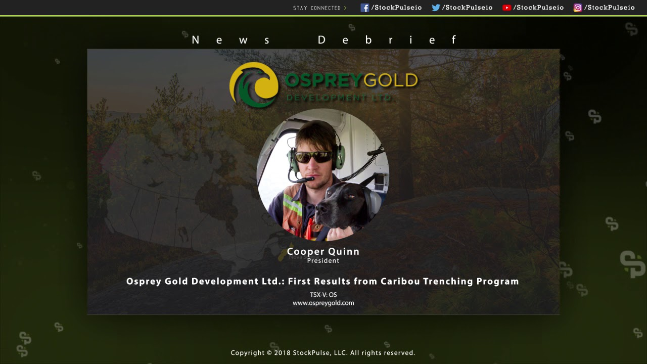 Osprey Gold Development Ltd.: First Results from Caribou Trenching Program