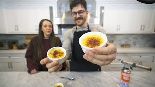 making crème brûlée is really easy