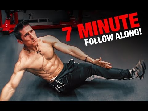 6 Pack Abs Workout | 7 Minutes (FOLLOW ALONG!)
