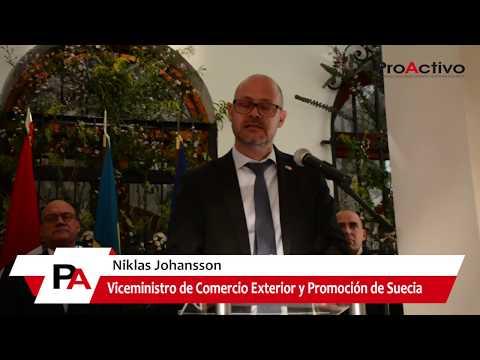 Día Nacional de Suecia en Lima, Perú - Viceministro de Comercio Exterior, Niklas Johansson
