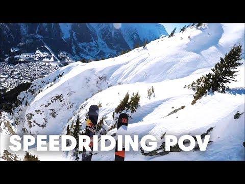 Speedriden in den französischen Alpen