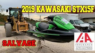 I Bought A Wrecked Flooded No Start 2019 Kawasaki Jet Ski from the Auction